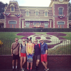 the team at disneyland